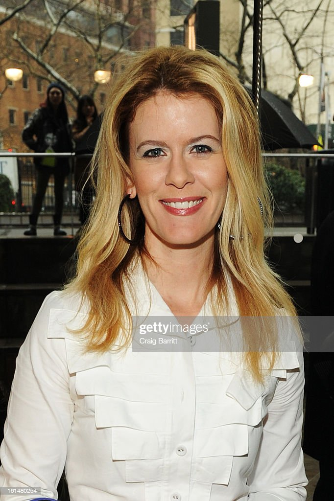 TV personality Alex Mccord attends the DL 1961 Premium Denim Fall 2013 fashion show during Mercedes-Benz Fashion Week at Alice Tully Hall on February 11, 2013 in New York City.