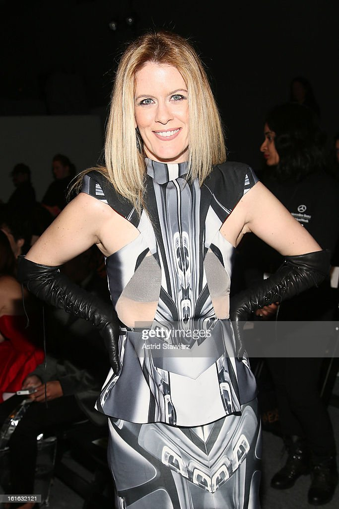 TV personality Alex McCord attends the Falguni & Shane Peacock Fall 2013 fashion show during Mercedes-Benz Fashion Week at The Studio at Lincoln Center on February 13, 2013 in New York City.