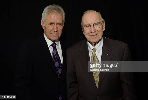 TV personality Alex Trebek and astronaut Jim Lovell attend the screening of 'Apollo 13' during day two of the 2015 TCM Classic Film Festival on March...