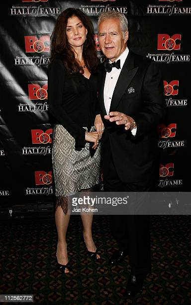 TV personality Alex Trebek and wife Jane arrive at the 17th Annual Broadcasting and Cable Hall of Fame Awards Dinner on October 22 2007 2007