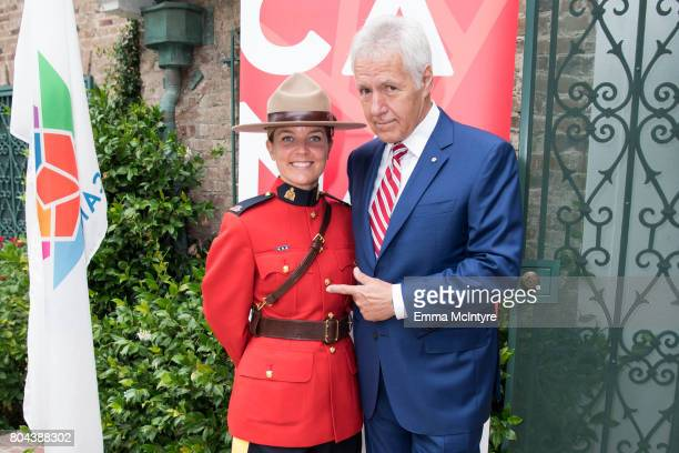 TV personality Alex Trebek attends the 150th anniversary of Canada's Confederation at the Official Residence of Canada on June 30 2017 in Los Angeles...