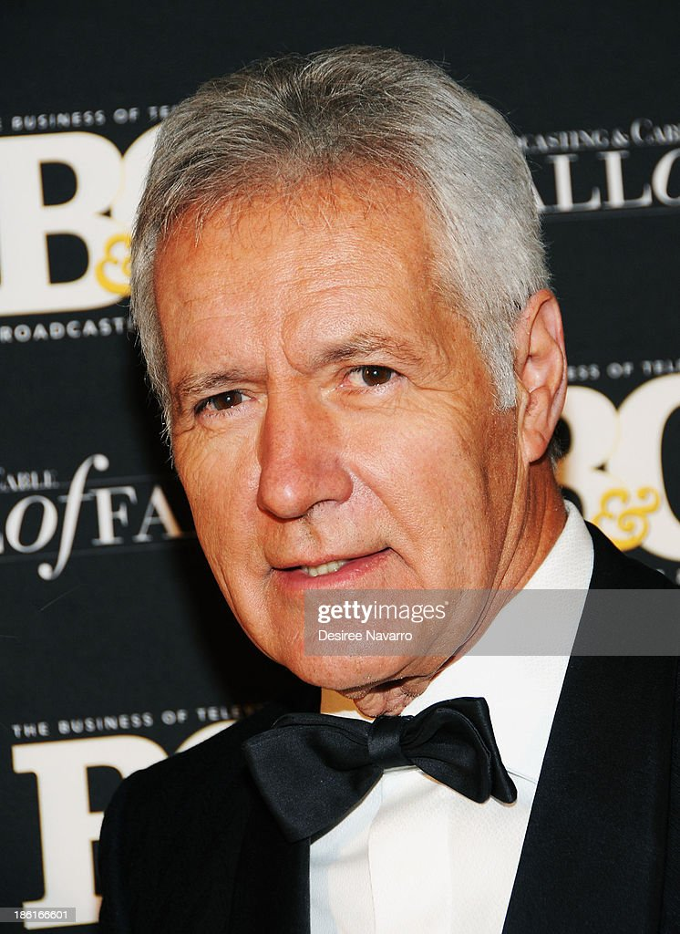 TV personality <a gi-track='captionPersonalityLinkClicked' href=/galleries/search?phrase=Alex+Trebek&family=editorial&specificpeople=595944 ng-click='$event.stopPropagation()'>Alex Trebek</a> attends the Broadcasting And Cable 23rd Annual Hall Of Fame Awards dinner at The Waldorf Astoria on October 28, 2013 in New York City.