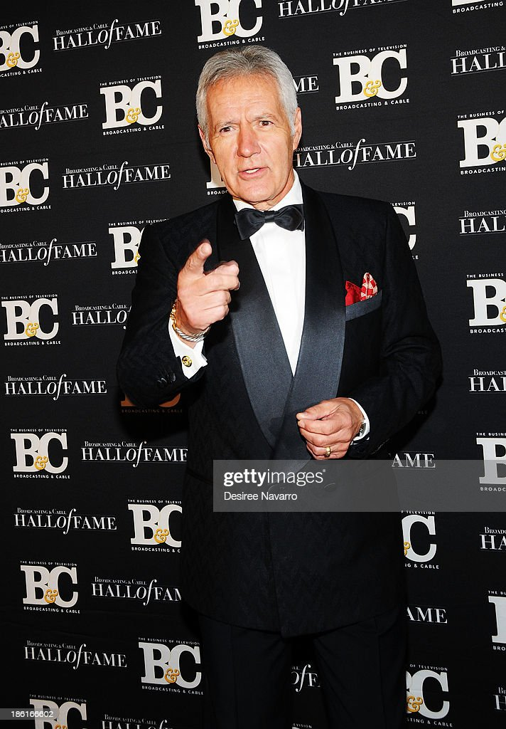 TV personality Alex Trebek attends the Broadcasting And Cable 23rd Annual Hall Of Fame Awards dinner at The Waldorf Astoria on October 28, 2013 in New York City.