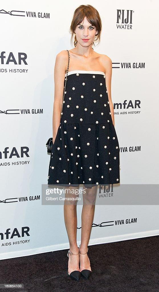 TV personality Alexa Chung attends amfAR New York Gala To Kick Off Fall 2013 Fashion Week Cipriani Wall Street on February 6 2013 in New York City