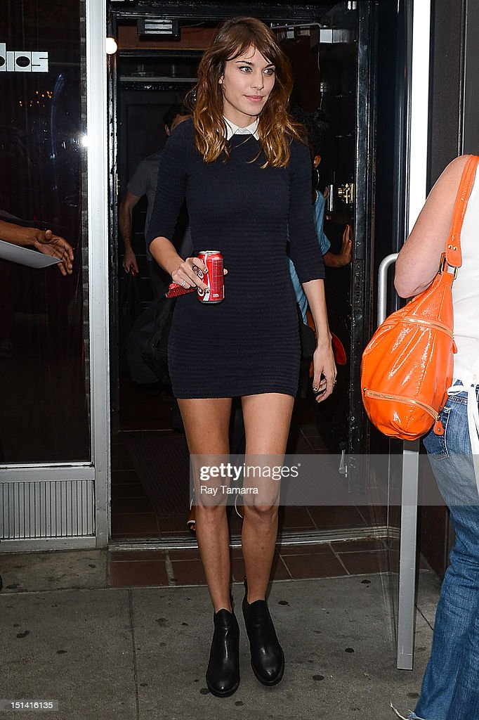TV personality Alexa Chung leaves the Electric Lady Studio on September 6, 2012 in New York City.