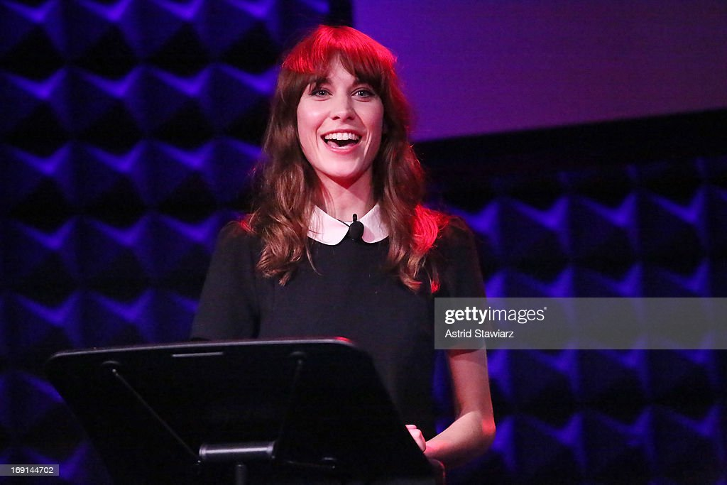 TV personality <a gi-track='captionPersonalityLinkClicked' href=/galleries/search?phrase=Alexa+Chung&family=editorial&specificpeople=3141821 ng-click='$event.stopPropagation()'>Alexa Chung</a> performs at Glamour's presentation of 'These Girls' at Joe's Pub on May 20, 2013 in New York City.