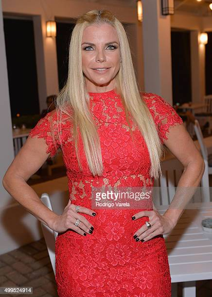TV personality Alexia Echevarria attends Palmeiras Beach Club at Grove Isle debuts during Miami Art Week on December 1 2015 in Miami Florida
