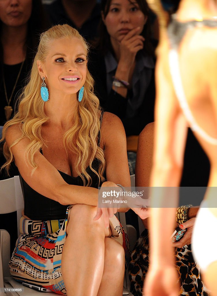 TV personality Alexia Echevarria attends the L*Space By Monica Wise show during Mercedes-Benz Fashion Week Swim 2014 at Cabana Grande at the Raleigh on July 21, 2013 in Miami, Florida.