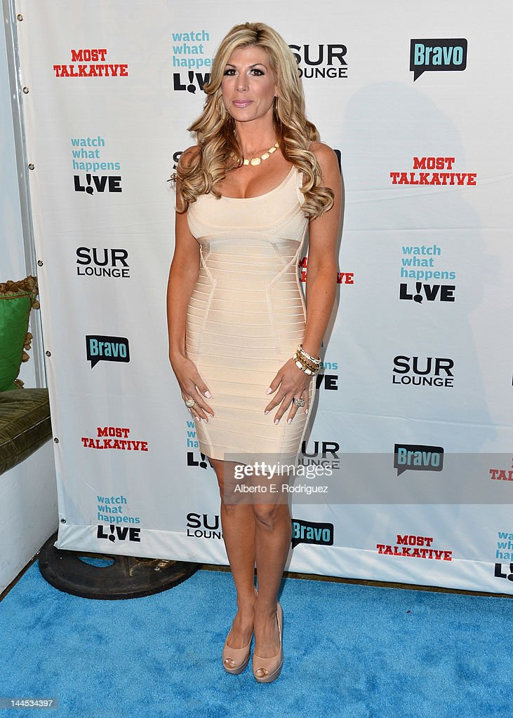 TV personality <a gi-track='captionPersonalityLinkClicked' href=/galleries/search?phrase=Alexis+Bellino&family=editorial&specificpeople=6544408 ng-click='$event.stopPropagation()'>Alexis Bellino</a> arrives to Bravo Media's celebration of the book release of Andy Cohen's 'Most Talkative: Stories From The Front Lines Of Pop Culture' at SUR Lounge on May 14, 2012 in Los Angeles, California.
