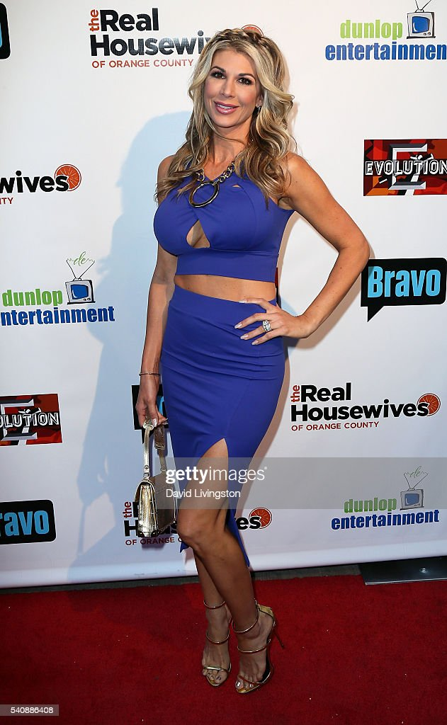 TV personality <a gi-track='captionPersonalityLinkClicked' href=/galleries/search?phrase=Alexis+Bellino&family=editorial&specificpeople=6544408 ng-click='$event.stopPropagation()'>Alexis Bellino</a> attends the premiere party for Bravo's 'The Real Housewives of Orange County' 10 Year Celebration at Boulevard3 on June 16, 2016 in Hollywood, California.