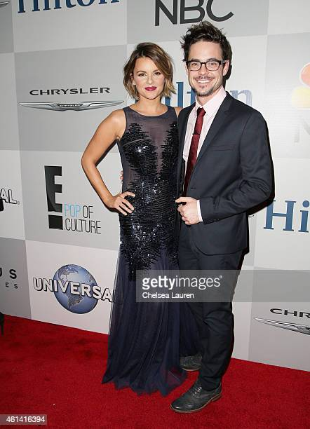 TV Personality Ali Fedotowsky and Guest attend the NBCUniversal 2015 Golden Globe Awards Party sponsored by Chrysler at The Beverly Hilton Hotel on...