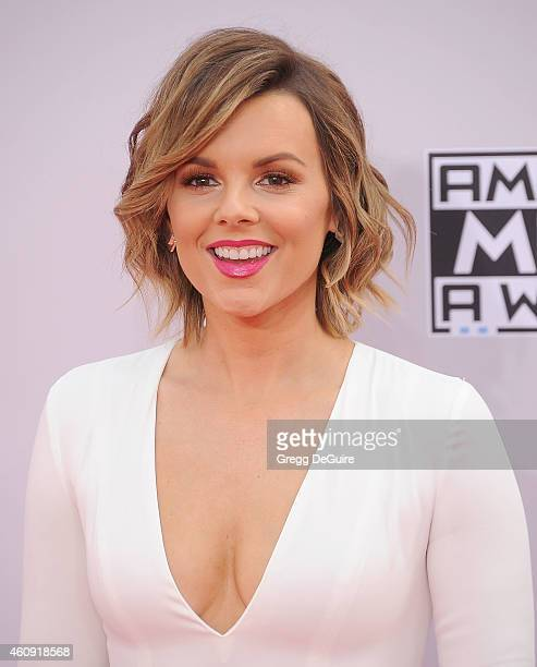 TV personality Ali Fedotowsky arrives at the 2014 American Music Awards at Nokia Theatre LA Live on November 23 2014 in Los Angeles California