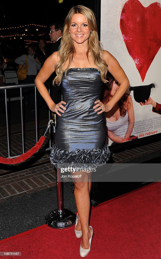 TV personality Ali Fedotowsky arrives at the Los Angeles Premiere 'Waiting For Forever' at Pacific Theaters at the Grove on February 1 2011 in Los...