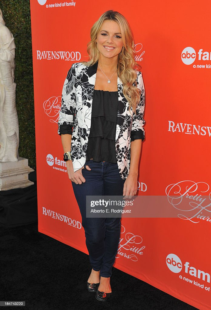 TV personality <a gi-track='captionPersonalityLinkClicked' href=/galleries/search?phrase=Ali+Fedotowsky&family=editorial&specificpeople=6799459 ng-click='$event.stopPropagation()'>Ali Fedotowsky</a> attends a screening of ABC Family's 'Pretty Little Liars' Halloween episode at Hollywood Forever Cemetery on October 15, 2013 in Hollywood, California.