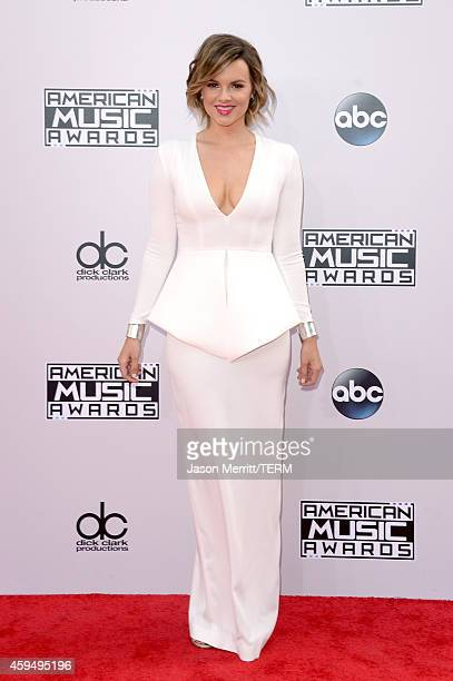 TV personality Ali Fedotowsky attends the 2014 American Music Awards at Nokia Theatre LA Live on November 23 2014 in Los Angeles California