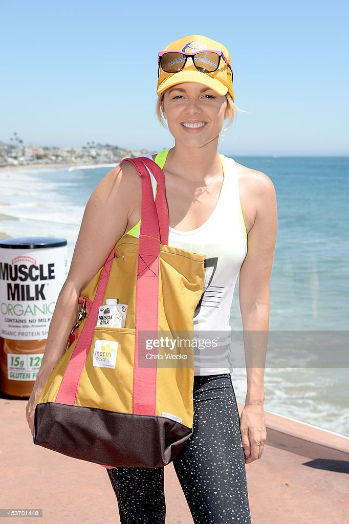 TV personality <a gi-track='captionPersonalityLinkClicked' href=/galleries/search?phrase=Ali+Fedotowsky&family=editorial&specificpeople=6799459 ng-click='$event.stopPropagation()'>Ali Fedotowsky</a> attends the Muscle Milk Organic launch at Beach Haus Malibu on August 16, 2014 in Malibu, California.