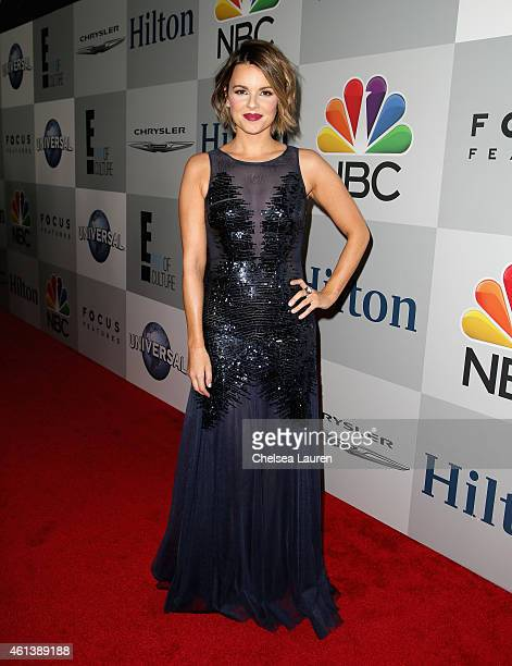Personality Ali Fedotowsky attends the NBCUniversal 2015 Golden Globe Awards Party sponsored by Chrysler at The Beverly Hilton Hotel on January 11...