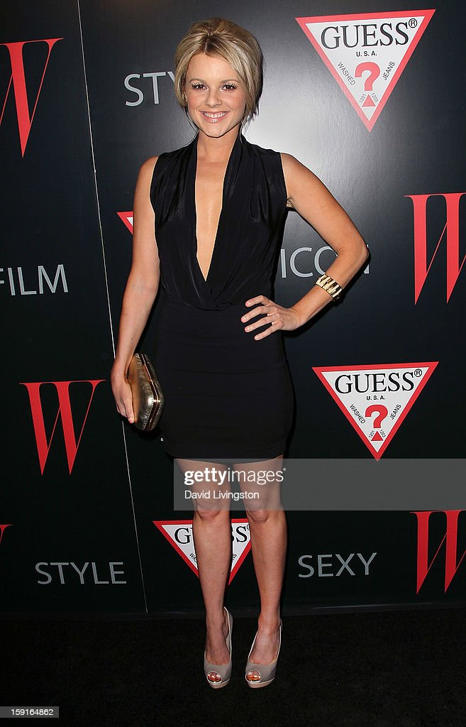 TV personality Ali Fedotowsky attends W Magazine and Guess celebrating 30 years of fashion and film and the next generation of style icons at Laurel Hardware on January 8, 2013 in West Hollywood, California.