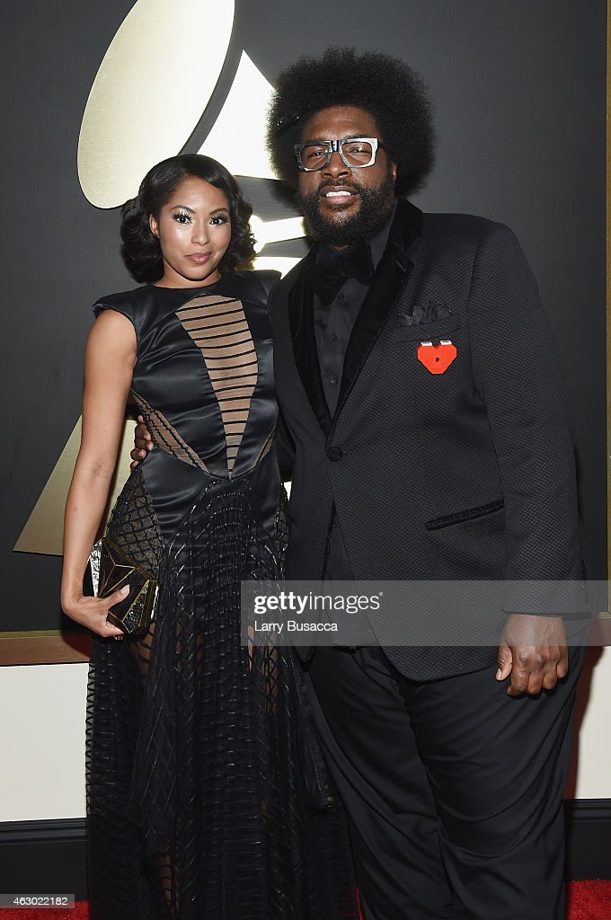 TV Personality Alicia Quarles and musician Questlove attend The 57th Annual GRAMMY Awards at the STAPLES Center on February 8, 2015 in Los Angeles, California.