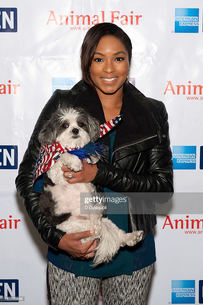 TV personality <a gi-track='captionPersonalityLinkClicked' href=/galleries/search?phrase=Alicia+Quarles&family=editorial&specificpeople=5533764 ng-click='$event.stopPropagation()'>Alicia Quarles</a> attends the 'Animalfair.com's Bark Business Tour Benefiting K9s For Warriors at the Omni Berkshire Place Hotel on September 30, 2013 in New York City.