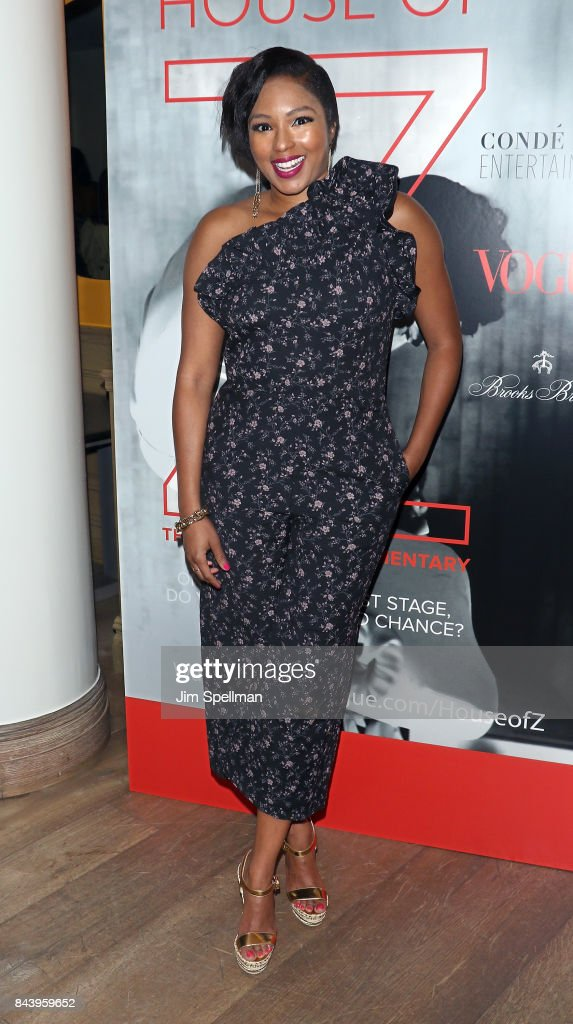 TV personality Alicia Quarles attends the premiere of 'House of Z' hosted by Brooks Brothers with The Cinema Society at Crosby Street Hotel on September 7, 2017 in New York City.