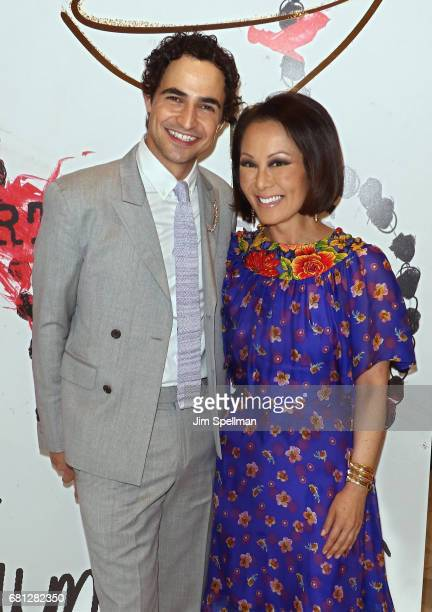 TV personality Alina Cho and designer Zac Posen attend Plum Skye's 'Party Girls Die In Pearls' book launch celebration at Brooks Brothers on May 9...