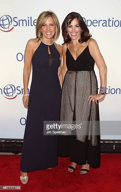 Personality Alisyn Camerota and honoree Lisa Lori attend the Operation Smile's Smile Event at Cipriani Wall Street on May 1 2014 in New York City
