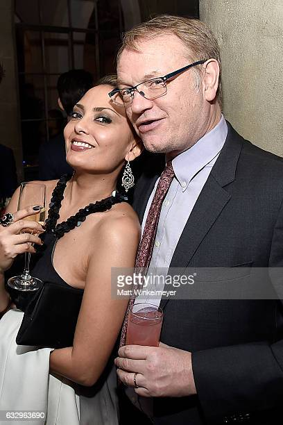 TV personality Allegra Riggio and actor Jared Harris attend the Entertainment Weekly Celebration of SAG Award Nominees sponsored by Maybelline New...