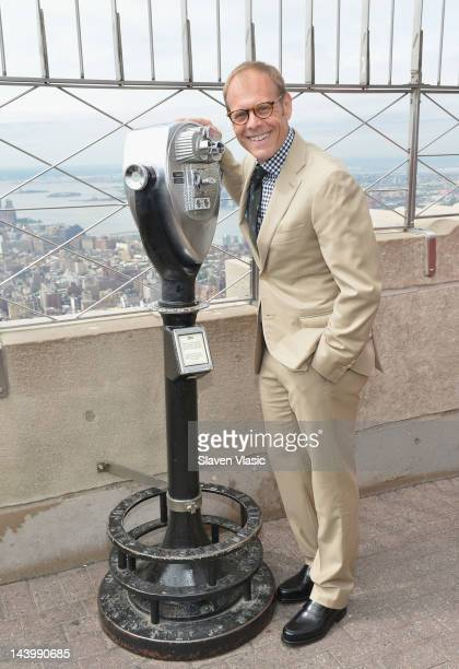 TV personality Alton Brown attends Empire State Building Lighting In Celebration Of the 2012 James Beard Foundation at The Empire State Building on...