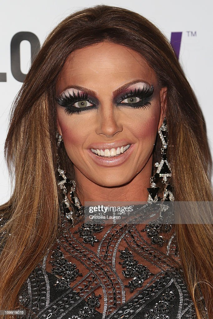 TV personality Alyssa Edwards arrives at 'Rupaul's Drag Race' season 5 premiere party at The Abbey on January 22, 2013 in West Hollywood, California.