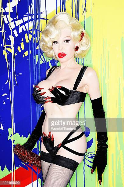 Personality Amanda Lapore attends the Cherie Lilly John Renaud Thrills Collection Spring 2012 fashion show during MercedesBenz Fashion Week at Red...