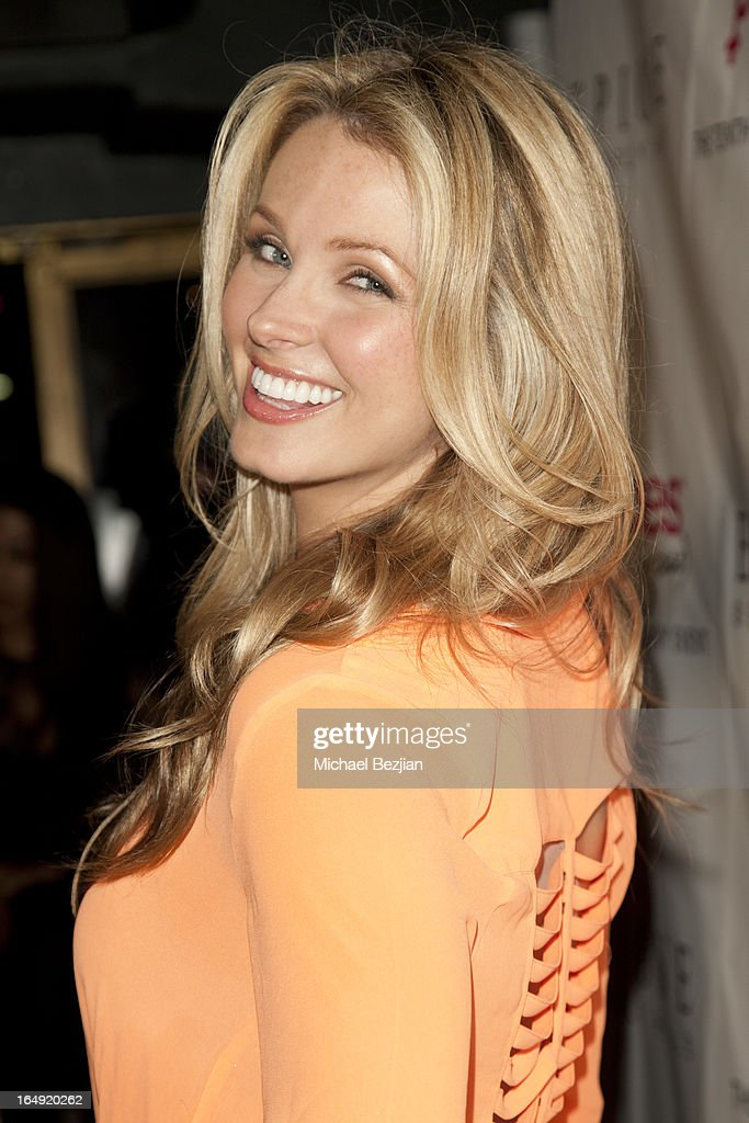 TV personality Amber Kelleher-Andrews arrives at 'Pieces(Of Ass)' Opening Night Los Angeles Performance at The Fonda Theatre on March 28, 2013 in Los Angeles, California.