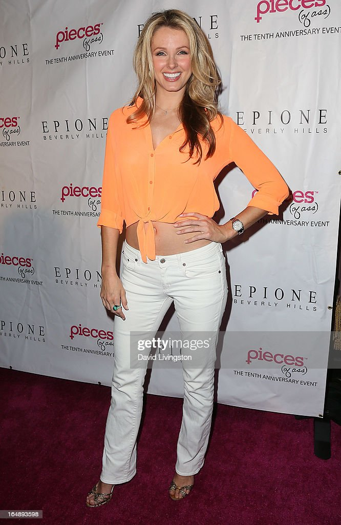 TV personality Amber Kelleher-Andrews attends the 'Pieces (of Ass)' opening night Los Angeles performance at The Fonda Theatre on March 28, 2013 in Los Angeles, California.