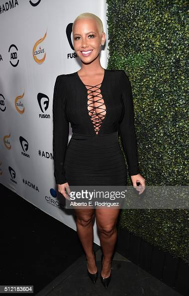 TV personality Amber Rose attends the ALL Def Movie Awards at Lure Nightclub on February 24 2016 in Hollywood California