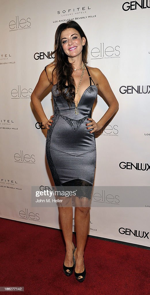 TV Personality Amy Heart attends Genlux Magazine's Hosting of Photographer Gilles Bensimon's portraits at the Sofitel Hotel on October 29, 2013 in Los Angeles, California.