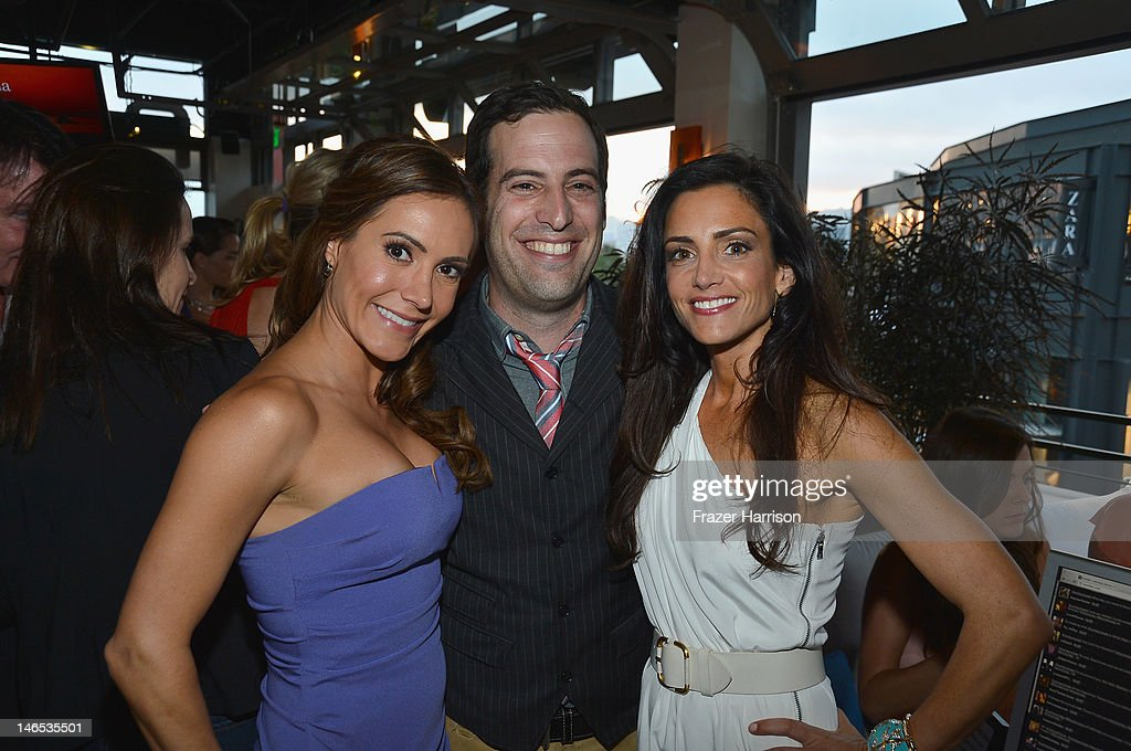 TV Personality Amy Laurent, producer Tom Forman and TV personality Emily Morse attend the season premiere viewing party of Bravo's 'Miss Advised' hosted by Executive Producer Ashley Tisdale held at Planet Dailies & Mixology 101 on June 18, 2012 in Los Angeles, California.