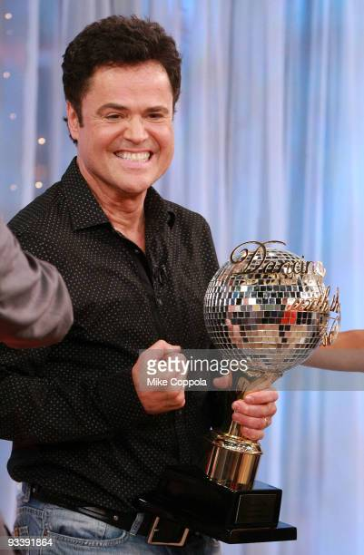 TV personality and ABC's 'Dancing with The Stars' winner Donny Osmond visits ABC's 'Good Morning America'>> at ABC Studios on November 25 2009 in New...