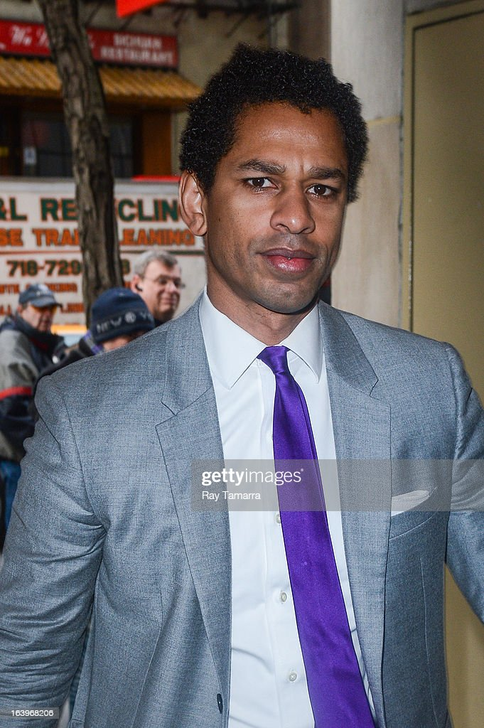TV personality and author Toure Neblett enters the 'Today Show' taping at the NBC Rockefeller Center Studios on March 18, 2013 in New York City.