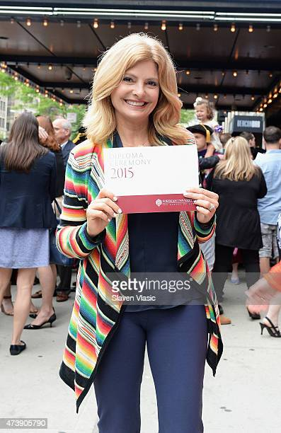 TV personality and civil rights attorney Lisa Bloom attends daughter Sarah Bloom's graduation from Fordam Law School at Beacon Theatre on May 18 2015...