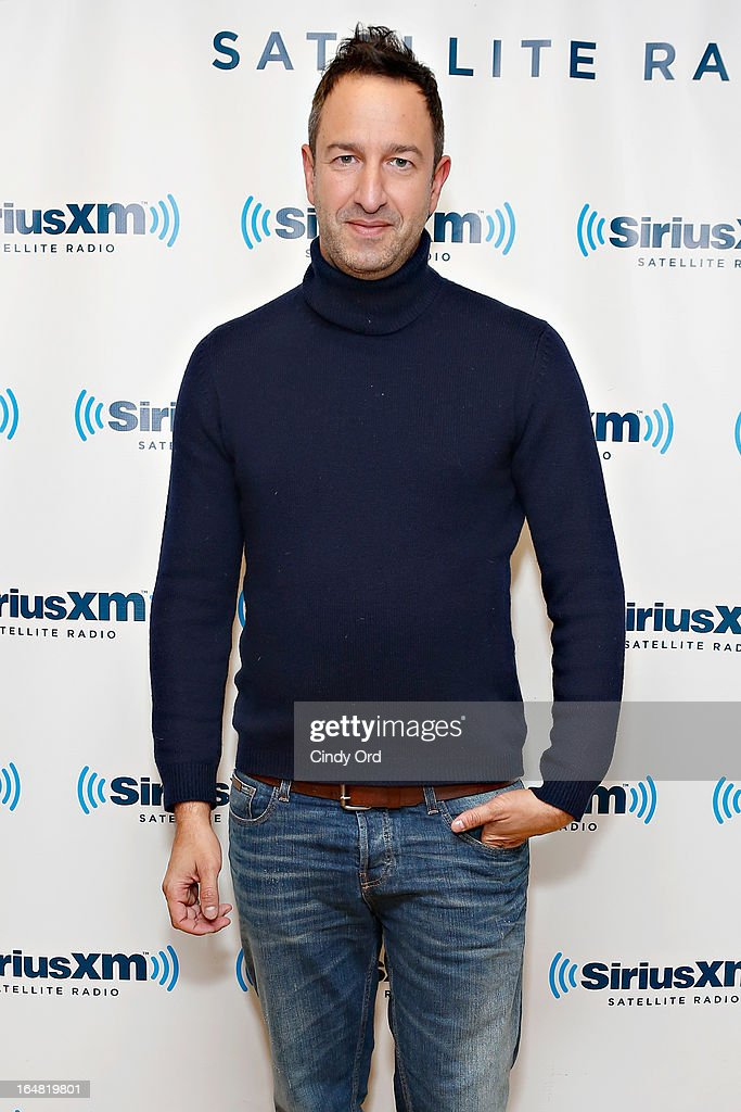 TV personality and co-owner of world renowned luxury brand Decades Inc. Christos Garkinos visits the SiriusXM Studios on March 28, 2013 in New York City.