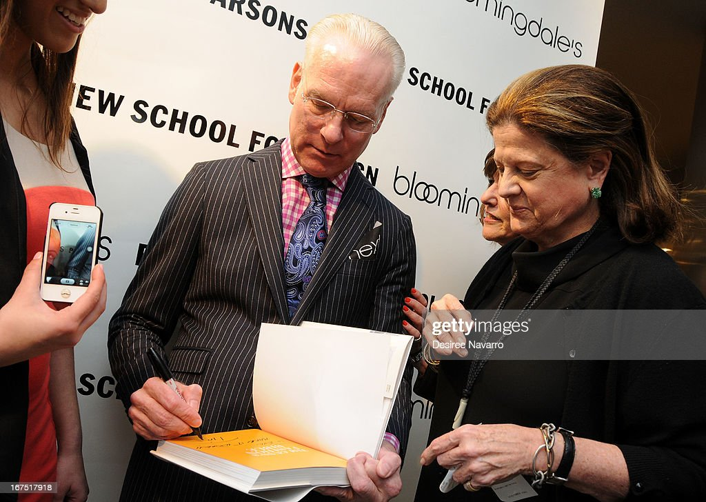 TV Personality and fashion consultant <a gi-track='captionPersonalityLinkClicked' href=/galleries/search?phrase=Tim+Gunn&family=editorial&specificpeople=696109 ng-click='$event.stopPropagation()'>Tim Gunn</a> signs copies of his new book '<a gi-track='captionPersonalityLinkClicked' href=/galleries/search?phrase=Tim+Gunn&family=editorial&specificpeople=696109 ng-click='$event.stopPropagation()'>Tim Gunn</a>'s Fashion Bible' at Bloomingdale's: b the next at Bloomingdale's on April 25, 2013 in New York City.