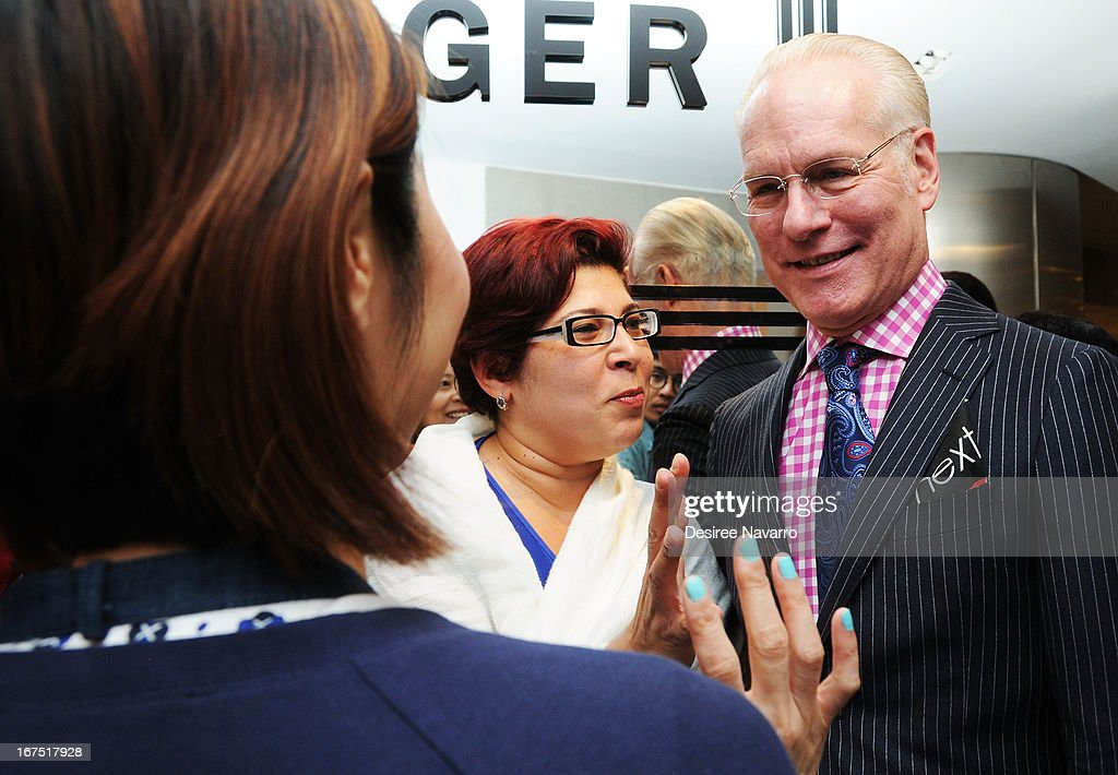 TV Personality and fashion consultant <a gi-track='captionPersonalityLinkClicked' href=/galleries/search?phrase=Tim+Gunn&family=editorial&specificpeople=696109 ng-click='$event.stopPropagation()'>Tim Gunn</a> talks with fans at Bloomingdale's: b the next at Bloomingdale's on April 25, 2013 in New York City.