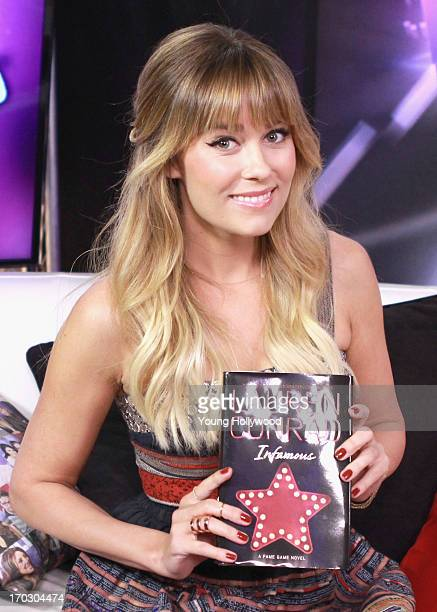 TV personality and fashion designer Lauren Conrad visits the Young Hollywood Studio on June 10 2013 in Los Angeles California