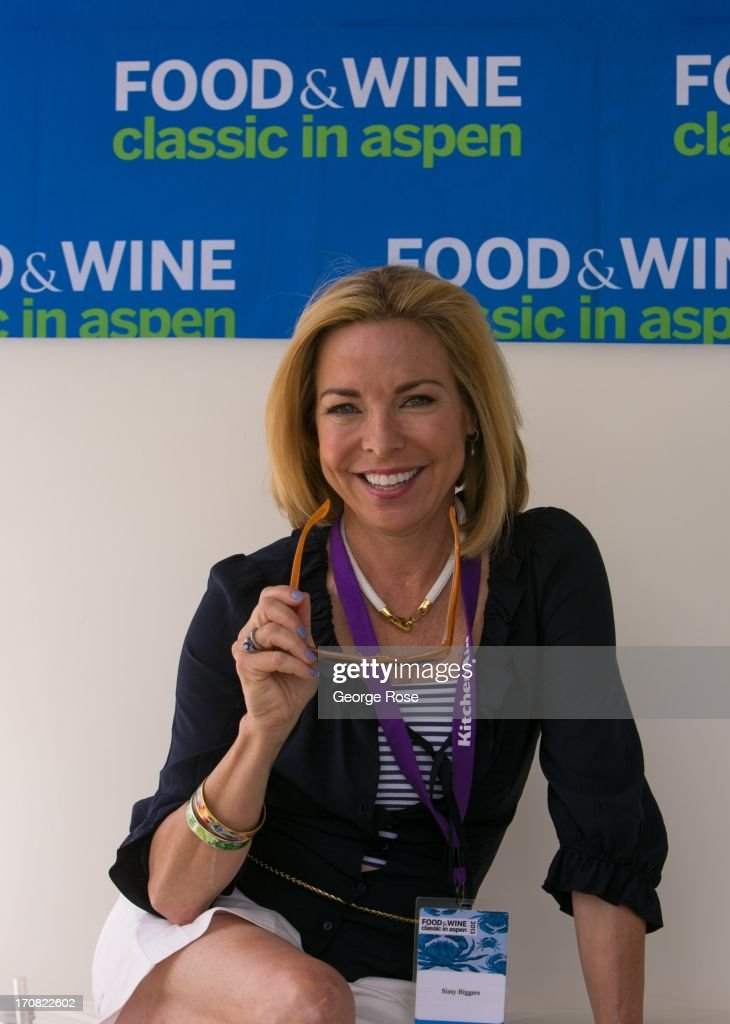 TV personality and food show host Sissy Biggers poses for photographers on June 14 in Aspen Colorado The 31st Annual Food Wine Classic brings...