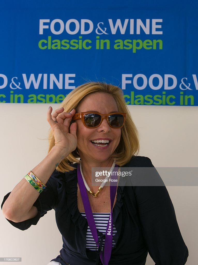 TV personality and food show host, Sissy Biggers, poses for photographers on June 14, 2013, in Aspen, Colorado. The 31st Annual Food & Wine Classic brings together the world's top chefs and vintners in a culinary and beverage celebration.