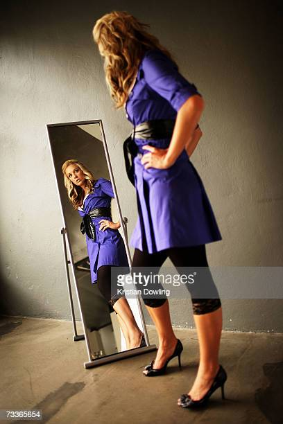 Personality and former Big Brother contestant Bree Amer poses for a portrait at Baltronics Studio on February 19 2007 in Melbourne Australia
