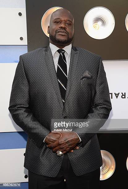 TV personality and retired NBA player Shaquille O'Neal attends The Comedy Central Roast of Justin Bieber at Sony Pictures Studios on March 14 2015 in...
