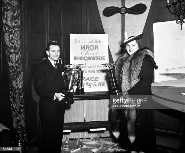 CBS personality and singer Kate Smith with William T Crawford Jr Image date May 4 1938 New York NY