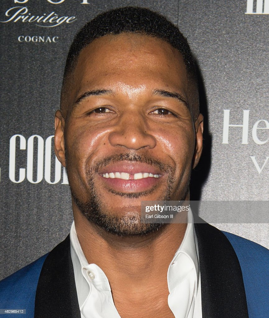 TV Personality and Sportscaster <a gi-track='captionPersonalityLinkClicked' href=/galleries/search?phrase=Michael+Strahan&family=editorial&specificpeople=210563 ng-click='$event.stopPropagation()'>Michael Strahan</a> attend the Hennessy Toast Achievements In Music Event on February 7, 2015 in Los Angeles, California.