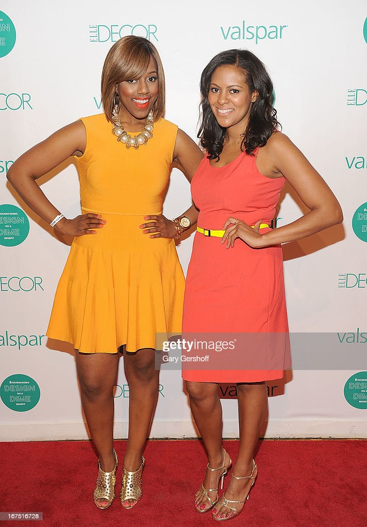 TV personality and style expert Daisy Llewellyn (L) and designer Nicole Gibbons attend Housing Works 9th Annual Design On A Dime Benefit at Metropolitan Pavilion on April 25, 2013 in New York City.